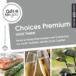 Keuze uit meer dan 400 leuke belevenissen: van een heerlijke lunch tot een etentje en van bubbels drinken tot par 3 golfen.