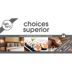 Keuze uit meer dan 400 leuke belevenissen: van een nachtje weg tot sauna en beauty en van tapas eten tot een leuk uitje of golfles.