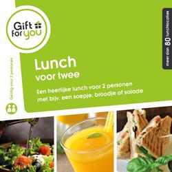 Heerlijke lunch voor twee personen met bijvoorbeeld een soepje, broodje of salade.