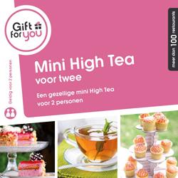 Gezellige Mini High Tea voor twee personen.