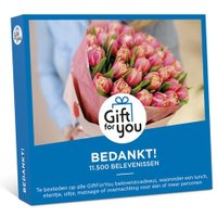 Gift for you bedankt! cadeaubon €50.00